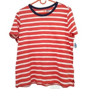 Old navy | Orange striped tee